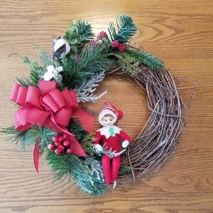 Other - Handmade Old Christmas ELF farmhouse style Wreath